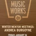 WINTER MENTOR MEETINGS: Andrea Burgoyne