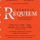 Duruflé's Requiem and New Canadian works for Choir and Organ