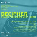 Decipher: Venue x Performer Meet + Greet