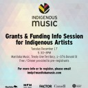 Grants & Funding Info Session for Indigenous Artists