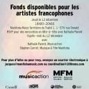 Fonds disponibles pour les artistes francophones