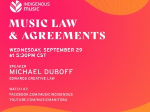 ON TRACK Indigenous Music Business Basics | Music Law & Agreements