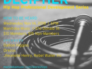 Decipher: Hip Hop Professional Development Workshops | How to Be Heard