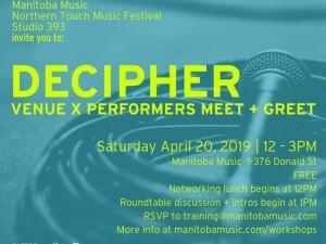 Decipher: Venue x Performer Meet + Greet