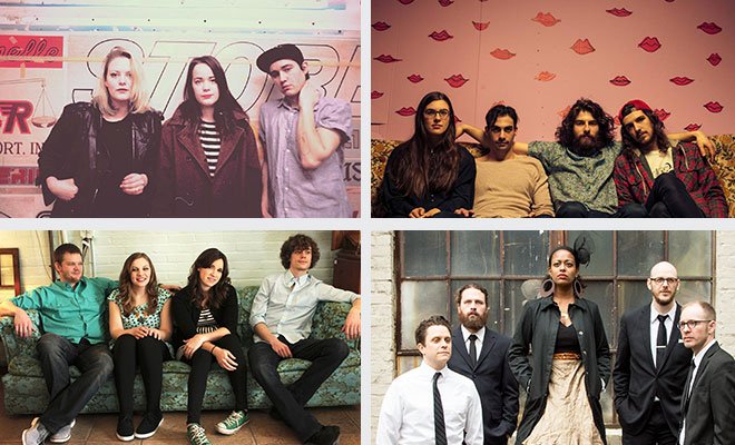 Clockwise from top left: Mise en Scene, Living Hour, Gospel Machine, Reina del Cid