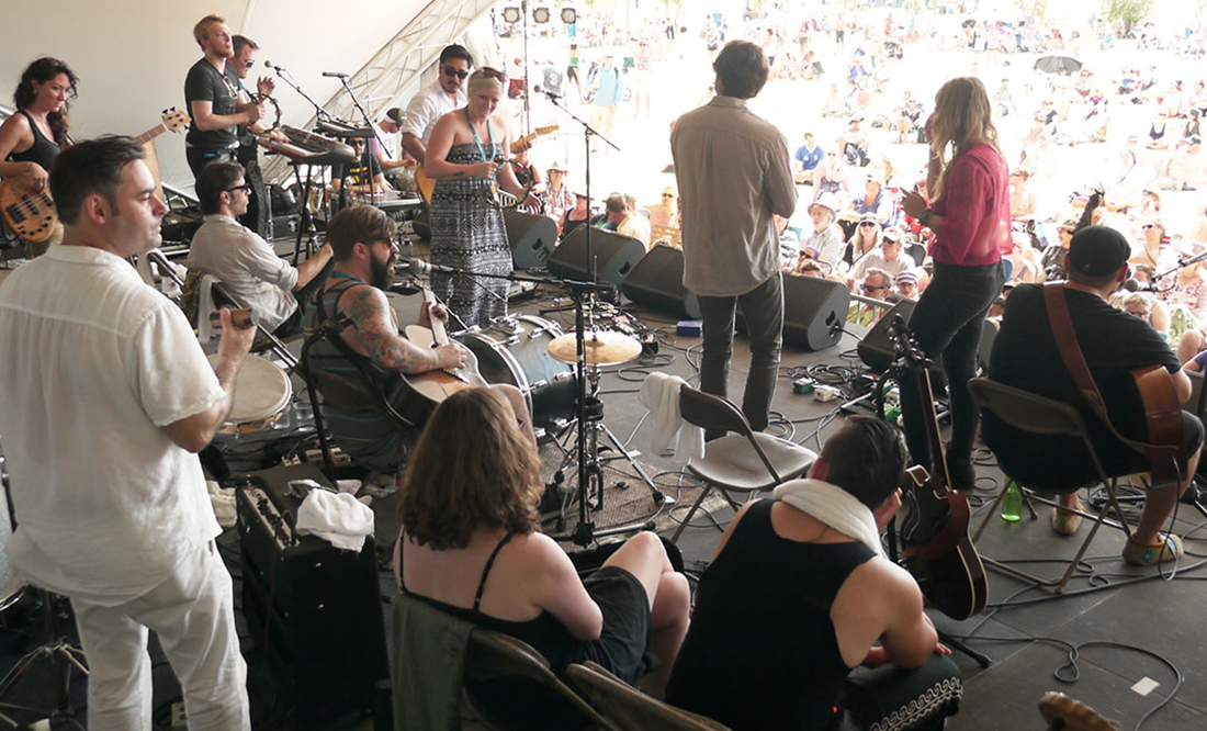 Last year's Manitoba Workshop at the Winnipeg Folk Festival
