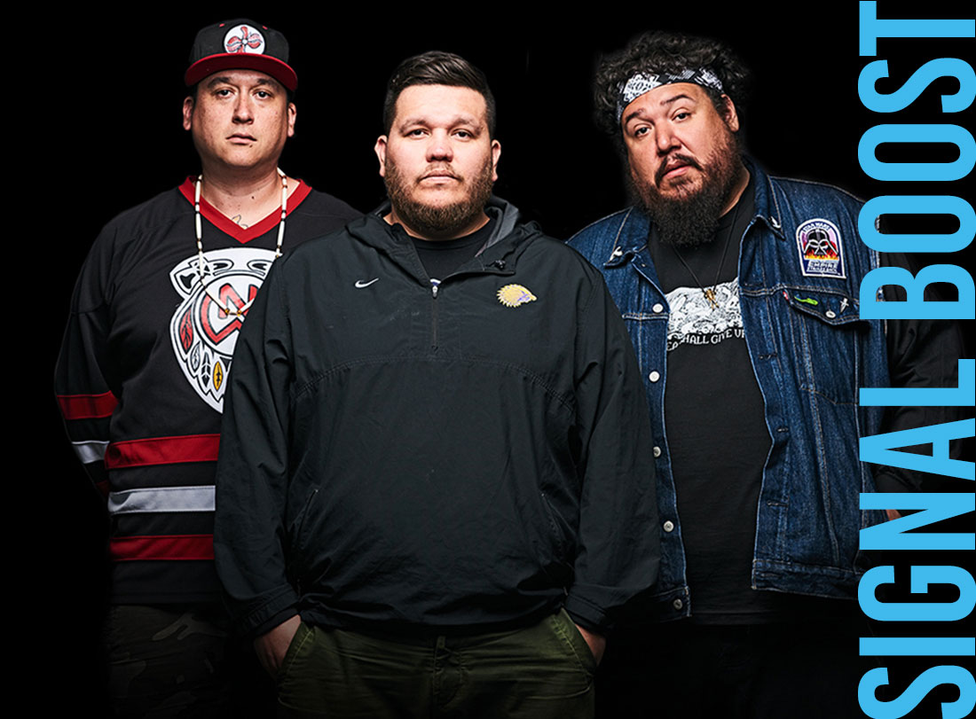 A Tribe Called Red from left: Deejay NDN, 2oolman, Bear Witness
