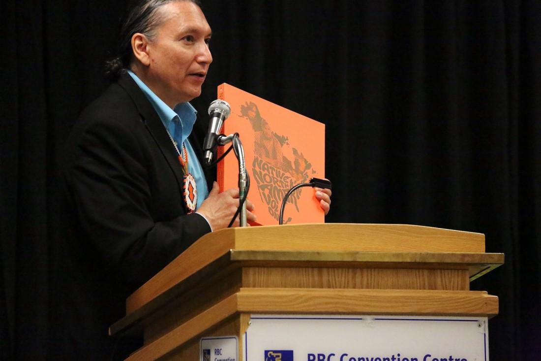 NCI FM's David McLeod at the 2016 Indigenous Music Conference (Photo: Doug Thomas / Courtesy of Manito Ahbee)