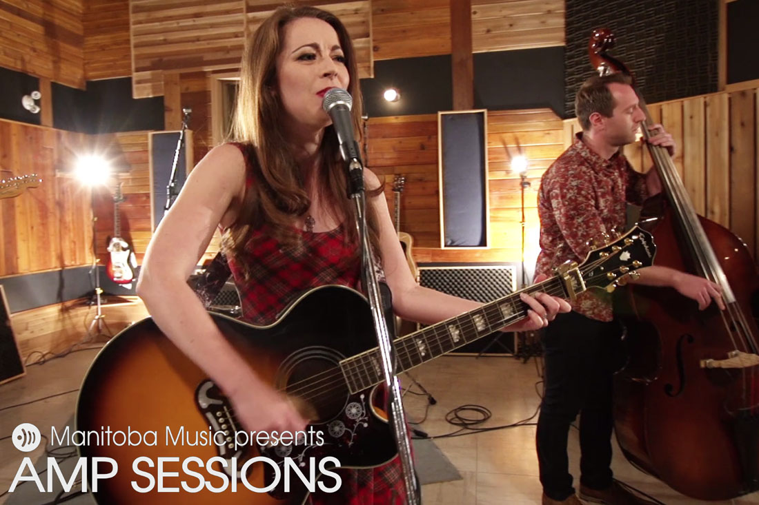 Ashley Robertson at the AMP Sessions video shoot at Bedside Studios