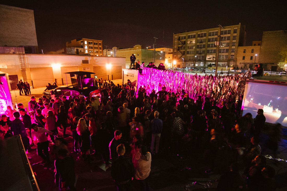 Wall-To-Wall finale at Nuit Blanche 2016 (Photo: Emily Christie / @emilyfchristie)