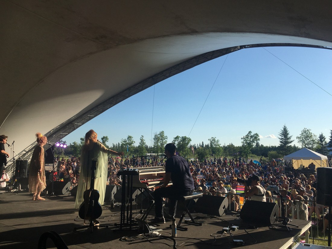 Begonia at Winnipeg Folk Festival's Manitoba workshop in 2017