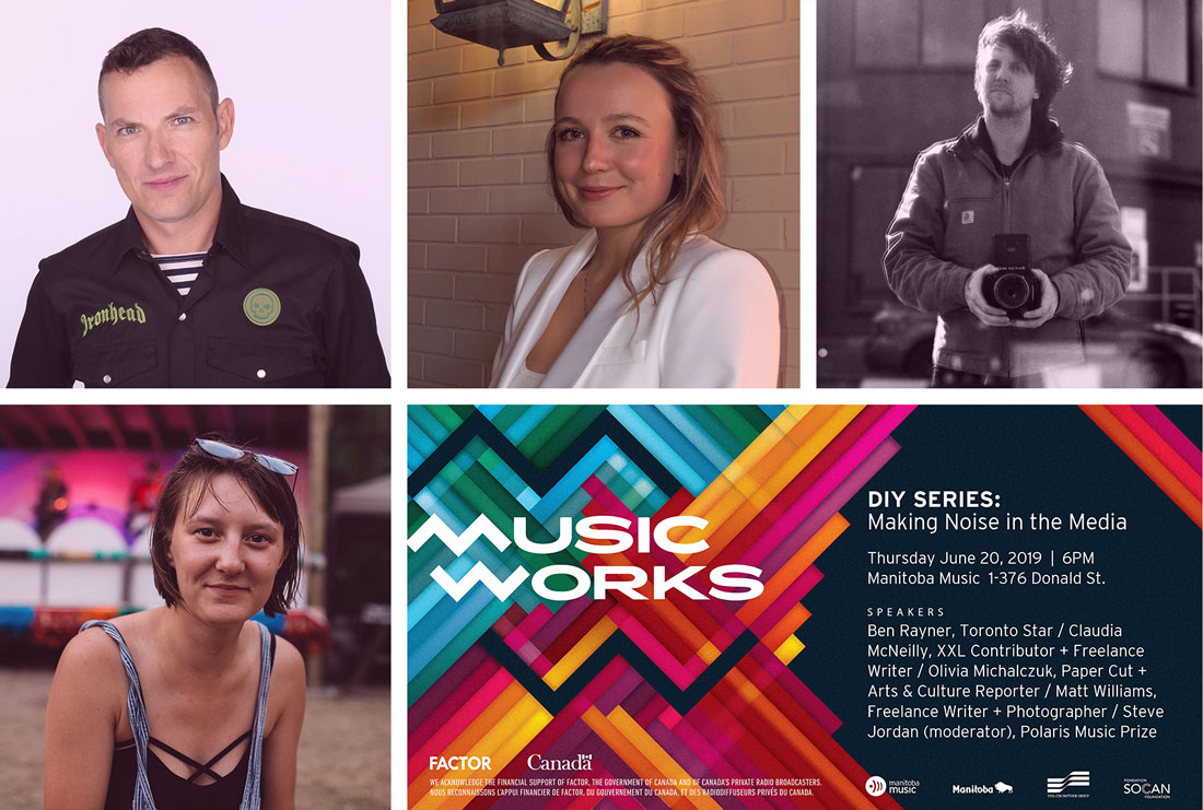 Meet the MusicWorks Panelists: Ben Rayner, Claudia McNeilly, Matt Williams, Olivia Michalczuk