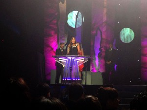 Ali Fontaine accepts her APCMA (Photo: Manitoba Film & Music)