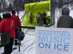Red Moon Road plays at Hygge House at last year's Manitoba Music On Ice