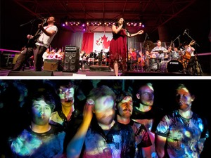 Top: Imaginary Cities with the WSO on Canada Day (Photo: J.Senft Photography) Bottom: Royal Canoe (Photo: Delf Gravert)