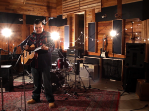 Leonard Sumner filming at Bedside Studios