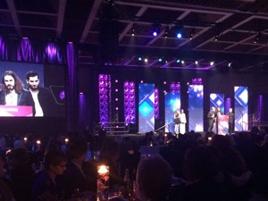 The Bros. Landreth accept their award at the 2015 JUNO Gala Dinner & Awards