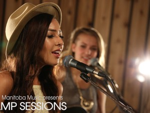 Ali Fontaine and Ila Barker at the AMP Sessions shoot at Bedside Studios