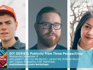From left: Adam Fuhr, Jared Falk, Teghan Beaudette