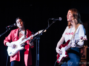 Kira Gregory with Erika Fowler at New Music Night (Photo: Jenny Ramone Photography)