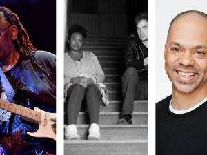 From left: Thomas Mapfumo, Brendan Kinley, Guerrillas of Soul, Ismaila Alfa, Leonard Sumner,