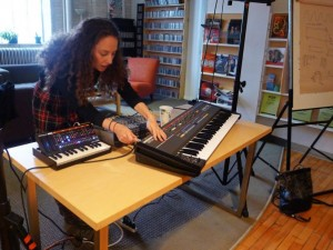 Joanna Pollock at last season's Equalizer synth basics workshops