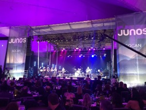 Manitoba-raised, Hamilton-based artist Iskwé performs at the 2018 JUNO Awards Dinner & Gala