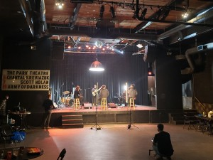 Super Duty Tough Work filming at The Park Theatre in early October