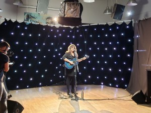 Andrina Turenne at the filming in early October at Le Garage